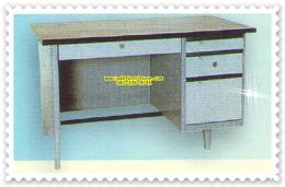 โต๊ะทำงานเหล็กท๊อปผิวเมลามีน HKF-2436