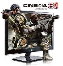 จอคอมพิวเตอร์ LG D2342P 3D LED LCD Monitor