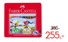 ดินสอสีไม้ระบายน้ำ 24 สี กล่องเหล็ก