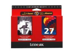 หมึกเครื่องพิมพ์ LEXMARK 17 BK/27CO