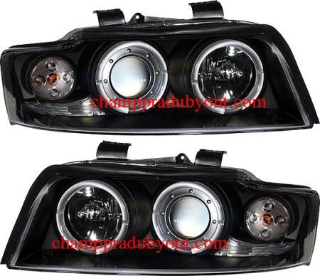 ไฟหน้ารถยนต์ AUDI A4 01-04 ดำ วงแหวน