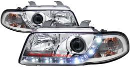 ไฟหน้ารถยนต์ AUDI A4 95-00 ขาว มุมติด LED ยาว