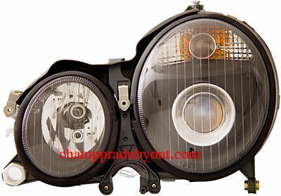 ไฟหน้ารถยนต์ BENZ E-CLASS W210 99-02 ดำ