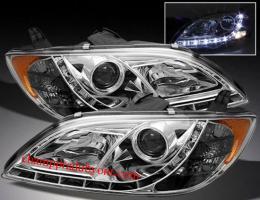 ไฟหน้ารถยนต์ MAZDA 3 4D 05-11 ขาว LED ยาว