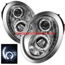 ไฟหน้ารถยนต์ MINI COOPER 02-06 ขาว วงแหวน LED