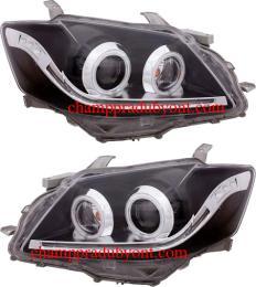 ไฟหน้ารถยนต์ TOYOTA CAMRY 06-09 ดำ LED ยาว
