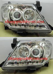ไฟหน้ารถยนต์ TOYOTA VIGO 04-11 ขาว วงแหวน LED