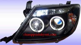 ไฟหน้ารถยนต์ TOYOTA VIGO 04-11 ดำ วงแหวน V.2