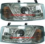 ไฟหน้ารถยนต์ VOLKSWAGEN CARAVELLE T4 92-96 ขาว มุมติด LED ยาว