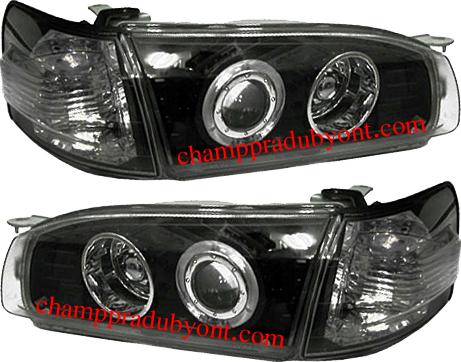 ไฟหน้ารถยนต์  TOYOTA AE110-AE111 95-97 ดำ วงแหวน พร้อมมุมดำ