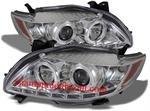 ไฟหน้ารถยนต์  TOYOTA ALTIS 08-10 ขาว วงแหวน LED ยาว