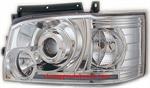 ไฟหน้ารถยนต์  TOYOTA HIACE COMMUTER 05-10 ขาว มุมติด วงแหวน