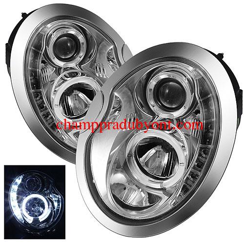 ไฟหน้ารถยนต์  MINI COOPER 02-06 ขาว วงแหวน LED ยาว