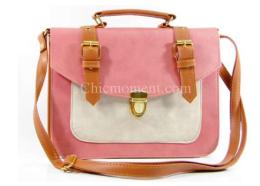 กระเป๋าทรงกล่อง รหัส YB-9947 สีชมพู