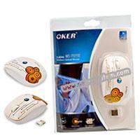 เมาส์ Wireless OKER (MS-2020R) Orange