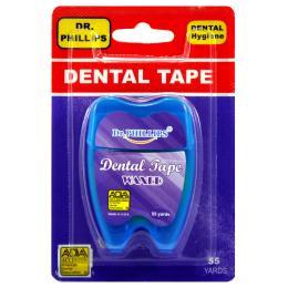 เทปขัดฟัน 55 หลา (สีน้ำเงิน)