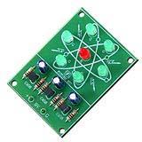 วงจรไฟวิ่งรูปอะตอม LED 7 ดวง