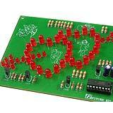 วงจรไฟกระพริบรูปหัวใจคู่ LED 50 ดวง