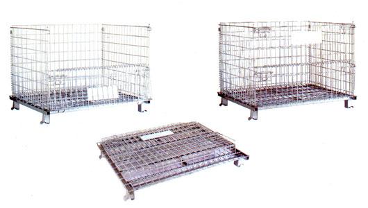 ตะแกรงเหล็กพับได้ Foldable Wire Mesh Containers (PCF-1012W)