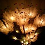 โคมไฟดาวดึงส์สีขาวกลีบมะลิ