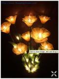 โคมไฟดอกไม้ สีเหลืองทอง