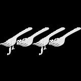 ส้อมเล็กสีขาว S01