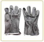 ถุงมือหนังผิวเฟอร์ทั้งสองด้านกุ้นขอบ รุ่น LG-GT2FG