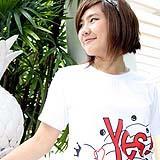 เสื้อยืดคอกลม สีขาว ผู้หญิง A006