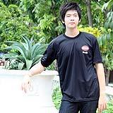 เสื้อยืดคอกลม สีดำ ผู้ชาย A005