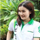 เสื้อยืด คอโปโล สีขาว ปก และ สาป สีเขียว B026