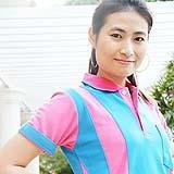เสื้อยืด คอโปโล สีฟ้าเข้ม สาบชมพู B022