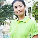 เสื้อยืด คอโปโล สีเขียวตอง B021