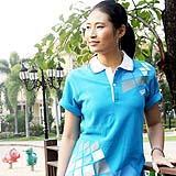 เสื้อยืด คอโปโล สีฟ้าเข้ม B019
