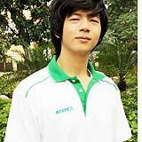 เสื้อยืด คอโปโล สาบสีเขียว B011