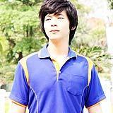 เสื้อยืด คอโปโล สีน้ำเงินสาบส้ม B007