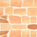วอลเปเปอร์สติ๊กเกอร์ PVC ลายกำแพงหินสีอิฐ DBS-11