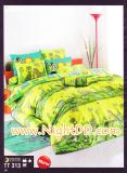 ผ้าปูที่นอนโตโต้ ลายสวนสัตว์สีเขียวสดใส TT313
