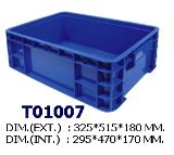ลังพลาสติกแบบทึบ T01007