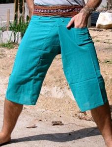 กางเกงผ้า TC ขาสี่ส่วน