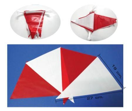 ธงราวสามเหลี่ยมขาวแดง