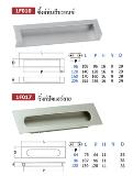 มือจับฝังโลหะ Metal Flush Handles 1F010