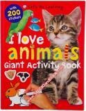 หนังสือสำหรับเด็ก I Love Animals Giant Activity Book