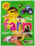 หนังสือสำหรับเด็ก I Love the Farm Giant Activity Book