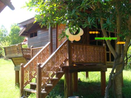 บ้านน็อคดาวน์ ซุ้มไม้ บ้านเรือนไทย 004