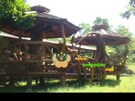 บ้านน็อคดาวน์ ซุ้มไม้ บ้านเรือนไทย 005