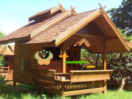 บ้านน็อคดาวน์ ซุ้มไม้ บ้านเรือนไทย 009