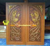 ประตูไม้สัก บานคู่  02