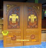 ประตูไม้สัก บานคู่  04