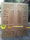 ประตูไม้สัก บานคู่  05