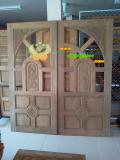ประตูไม้สัก บานคู่  06